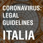 Coronavirus Legal Guidelines Italia